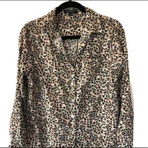 Velvet Heart Cheetah Print Blouse